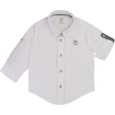 New Timberland Little Kids Baby Boy Infant Toddler Long Sleeved Polo Buttoned Sh