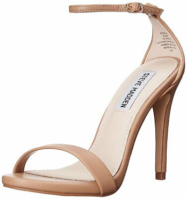 7a0b9fad5f Steve Madden Womens Stecy Leather Open Toe Casual Ankle Strap, Natural,  Size 9.5