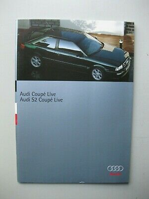 Audi S2 Coupe Live brochure Prospekt French text langue française 36 pages 1995