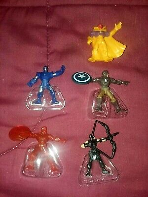 Marvel 500 series 4 mixed lot of 5 figures Fresh out of Bag Iron Man et al.