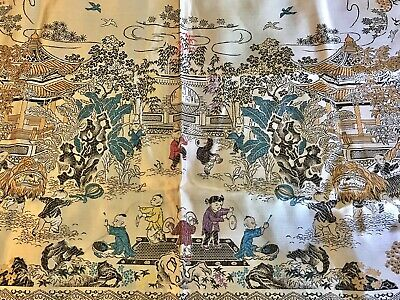 Chinese Silk Embroidered Wall Hanging Bed Spread Tapestry 100 Children Tapestry