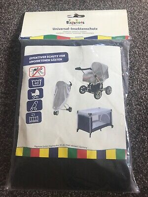 Insect Mosquito Net Cover Pram, Cot, Pushchair,  Universal Fit  By Playshoes