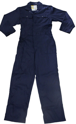 Mens Navy Blue Coveralls Boiler Suit Overalls Work Wear L/Weight NEW M, L, XL