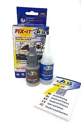"ATG Super Glue ""FIX-IT"", Liquid Plastic Welder +Strong Powder Adhesive GRAY"