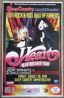 HEART 2013 Gig POSTER Ridgefield Concert Washington Ann & Nancy Wilson