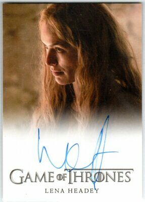 Game Of Thrones Season 5 Lena Headey As Cersei Lannister Autograph Very Limited