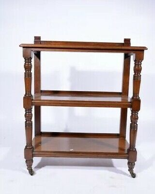 Walnut Shelf Trolly Dumb Waiter Sideboard - Victorian