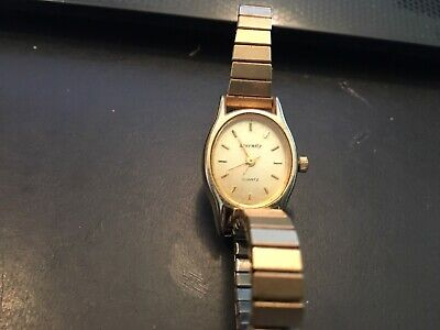 VTG Ladies Gold Tone Quartz Watch by Eternity