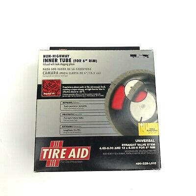 "Tire Aid Lawn Trailer & Wheel Barrow Inner Tube 6"" Rim Model 490-328-LO15"