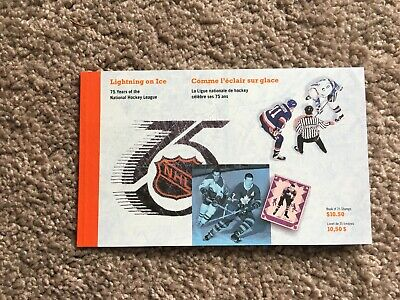 Canada Hockey 2009 Lightning on Ice, 75 years of Hockey, Stamps Booklet