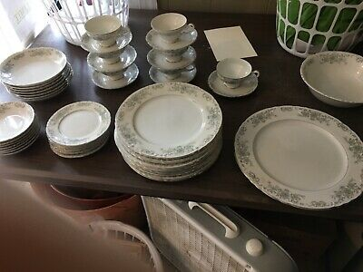 Norleans China Theresa Vintage Dinnerware Made in JAPAN Platinum Trim