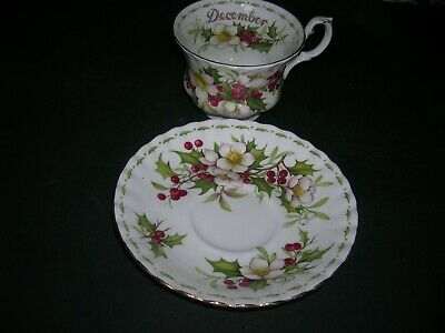 Royal Albert Bone China Tea Cup, Saucer Flower of The Month Christmas Rose