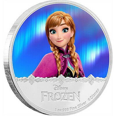 2016 Disney Frozen–Magic of the Northern Lights Anna 1oz Silver Coin