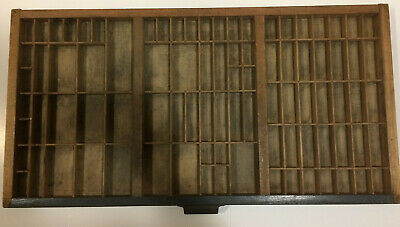 "HAMILTON Vintage Printers Type Cabinet Drawer ""California Style"""
