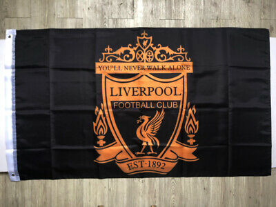 Liverpool Flag Banner3X5FTYou'll Never Walk Alone Soccer ClubBlack 2Grommets/392