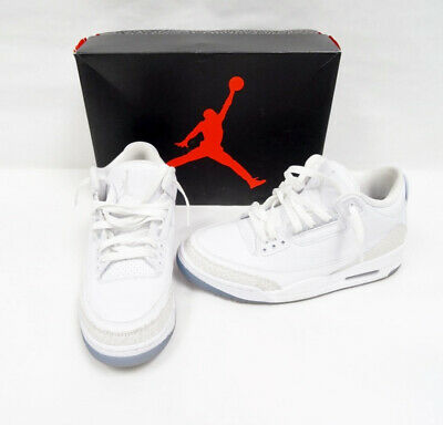 super popular 2dd07 d3968 Nike Air Jordan 3 Retro Pure White Basketball Shoes 136064-111 Sz9.5 P1