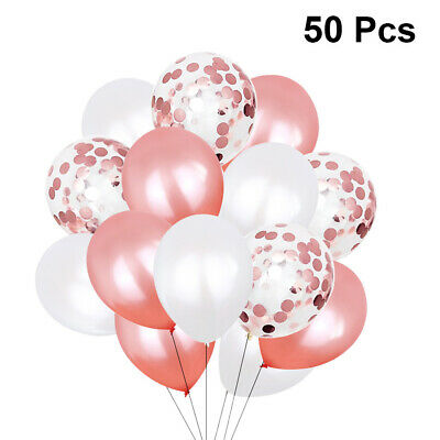 50 Pcs Balloons Set Decorative Party Favors Latex For Banquet Birthday