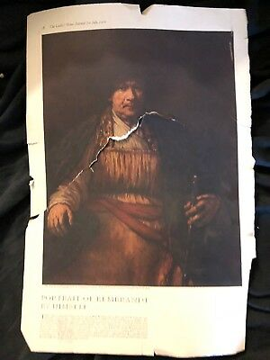Junk Drawer Rembrandt Picture from Ladies Home Journal Magazine July 1916