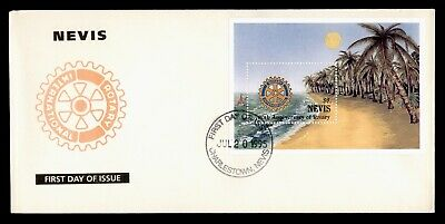 Dr Who 1995 Nevis Fdc #927 Rotary 90Th Anniv  105593
