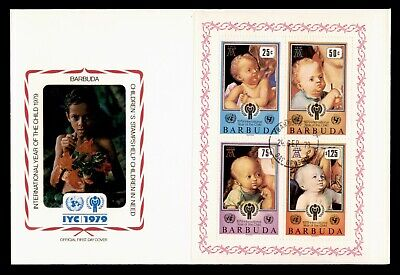 Dr Who 1979 Barbuda Fdc S/S Intl Year Of The Child  105551