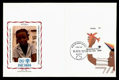 Dr Who 1979 Antigua Fdc #541 S/S Intl Year Of The Child  105553
