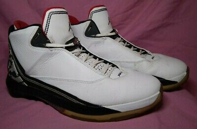 detailed look 180ab ef5ed Nike Air Jordan XXII XX2 22 WHITE BLACK RED SILVER 315299-161 Mens Size 12