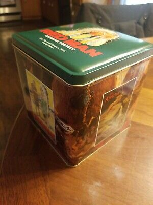 Red Man Tobacco Tin. American Tobacco Advertising. Indian Murals, Indian Chief