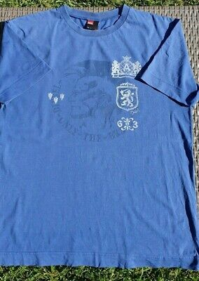 Diesel Only the Brave Vintage Retro T-Shirt from the 90's in Blue Size L