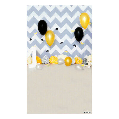 Andoer 1.5 * 0.9m/5 * 3ft Birthday Party Photography Background Balloon I4Z2