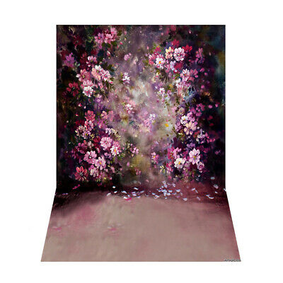 Andoer 1.5 * 2.1m/5 * 7ft Flower Wall Photography Background Painting Style M9X4
