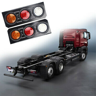 2x LED Tail Lights 12V Brake Reverse 63LED Trailer Truck UTE Caravan Indicator