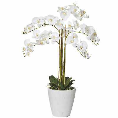 NEW Faux Butterfly Orchid in Tall Pot