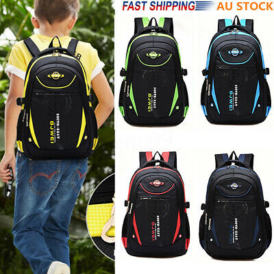 AU Children Waterproof School Backpack Boys Girls Kids Book Bag Travel Rucksack