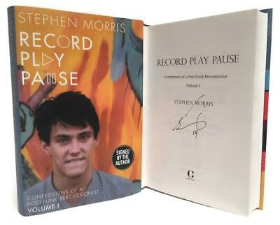 Signed Book - Record Play Pause by Stephen Morris New Order Joy Division