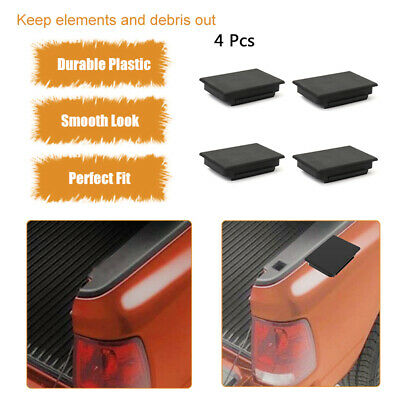 4 Pcs Bed Rail Post Hole Fits Chevy GMC Stake Pocket Cover 1999-2013 Trucks