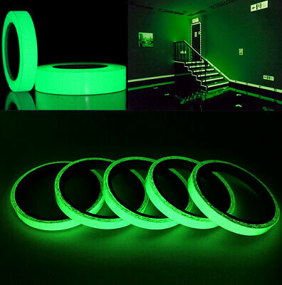 1*Decor Glow In The Dark Luminous Self-adhesive Safety Sticker Tape Car Sticker