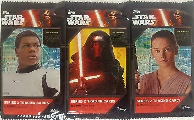 STAR WARS FORCE AWAKENS Series 2 Trading Card PACKS X 6  free shipping  2016