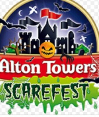 Alton Towers Scare fest Tickets X2 Friday 1st November