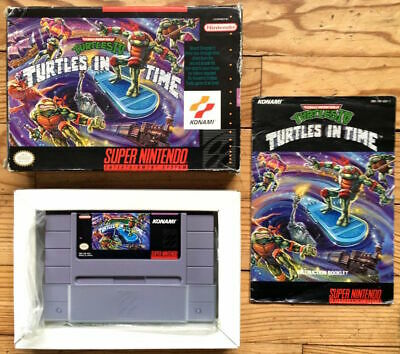 Turtles In Time Iv Complet Boîte Notice Super Nintendo Snes Ntsc Usa Cib Ovp 4