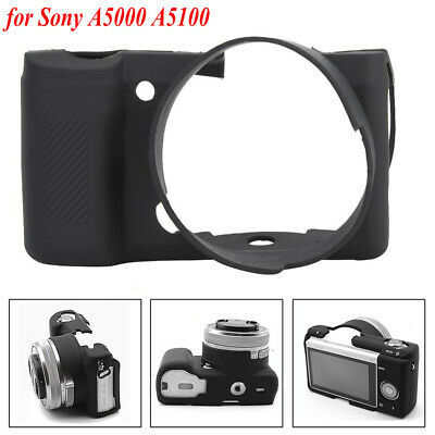 Soft Silicone Protective Case Cover Dust-Proof Shell for Sony A5000 A5100 Camera