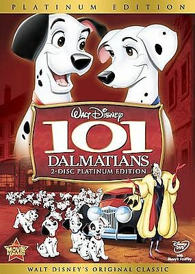 101 Dalmatians (DVD, 2008, 2-Disc Set, Platinum Edition) USPS First Class