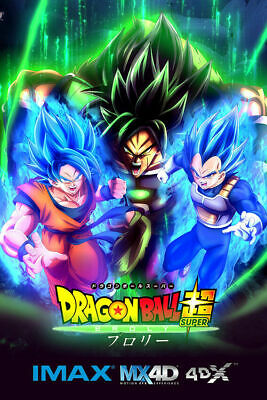 Dragon Ball Super Broly The Movie Poster 48x32 36x24 21x14 2019