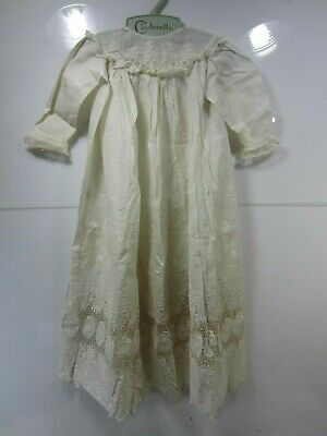 Antique Child's Long Lace Bottom Christening Gown
