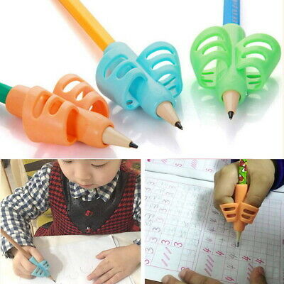 3Pcs Set Children Pencil Holder Pen Writing Aid Grip Posture Tools Correction AU