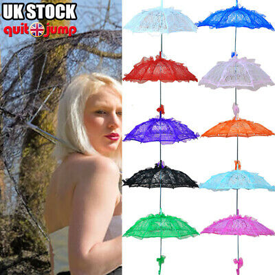 Lace Wedding Bride Bridesmaid Umbrella Retro Parasol Bridal Banquet Decor Brolly