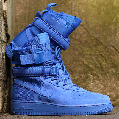 NIKE SF AIR Force 1 Hi 'Jeu Royal ' Daim Bleu Baskets Hommes