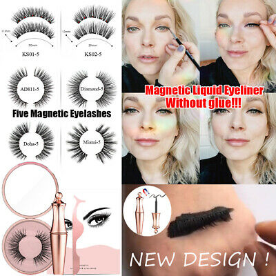 New Design Magnetic Liquid Eyeliner and Magnetic Lashes With Tweezers Set NEW