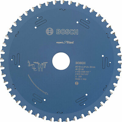 Bosch Expert Metal Steel Cutting Saw Blade 210mm 48T 30mm