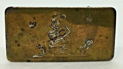 Vintage 1970s WINNIE THE POOH Belt Buckle Milne Brass Chrome~ Chambers Belt Co