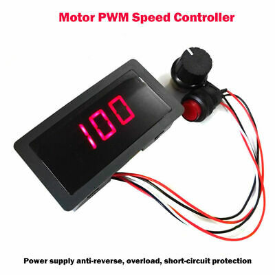 DC6-30V 12V 24V Max 8A Motor PWM Speed Controller With Digital Display Switch UK